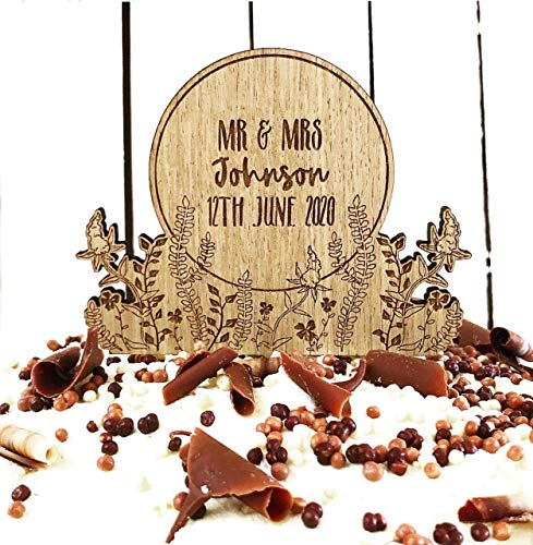 Personalised Wedding   Anniversary   engagement wooden cake topper - Personalise with names - Mr and Mrs Cake decoration – rustic wood toppers