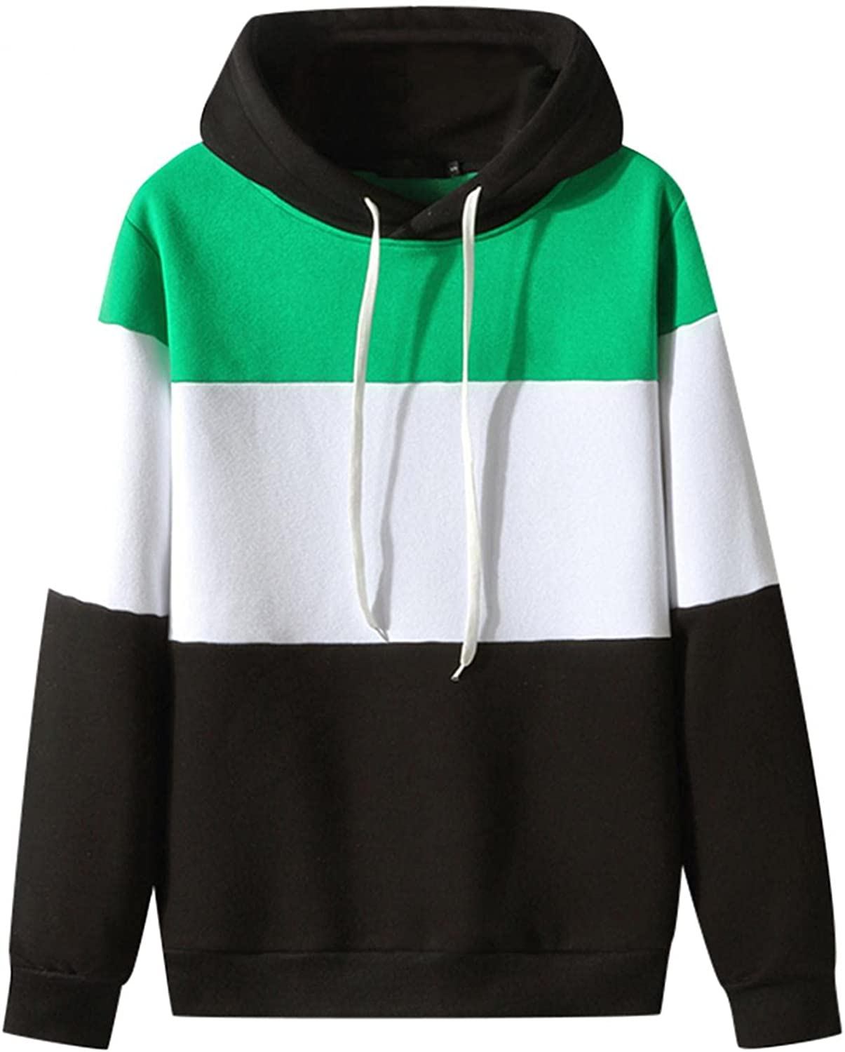 Super sale period limited Crewneck Sweatshirts Men Complete Free Shipping Novelty Color Pullover Hooded Fle Block