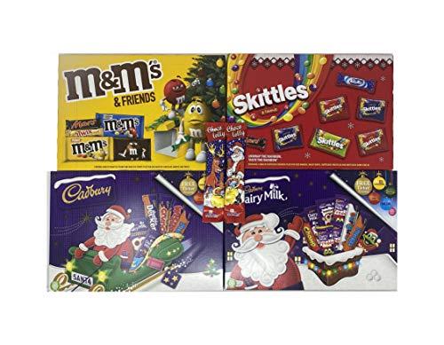 eBoutik - Weihnachts-Auswahl Schokoladengeschenke – Weihnachts-Süßigkeitspackungen, perfekte Geschenke (4 x Auswahlboxen + 2 Krimbo Chocs)