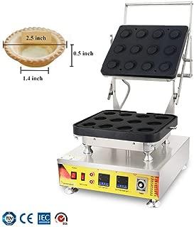 NP-846 Commercial Electric Double Digital Custard Tart Shell Egg Tart Shell Machine Maker Baker Pastry Pie Tartlets Shell Making Machine Non-Stick Stainless Steel 12 Holes (110V)