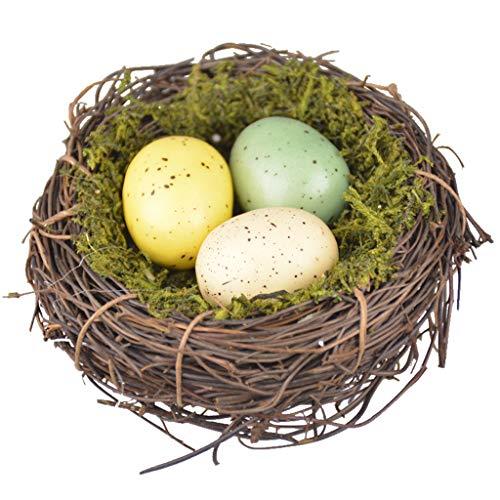 Bobeini - Nido per alberi, in schiuma, ideale come decorazione per uccelli, uova di Pasqua