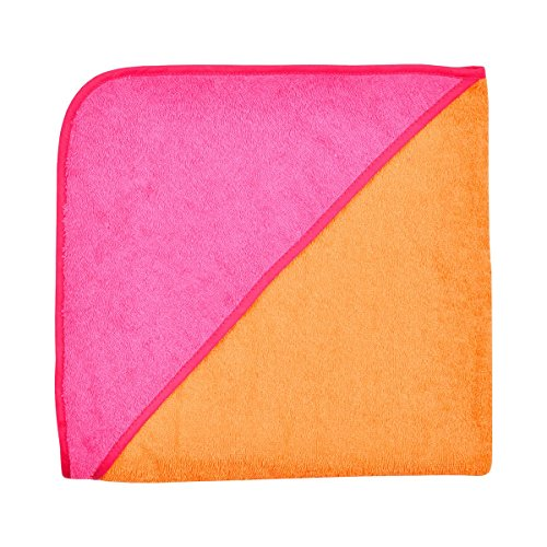 WÖRNER Le drap de bain à capuche drap de bain bébé, rose/rose vif