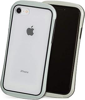 iPhone 8 ケース iPhone 7 ケース iPhone SE2 ケース ソフト スマホ ケース かわいい シンプル クリア 透明 ポリカーボネート ストラップ Qi対応 カバー 「クリアシールド」 グレージュ iPhone8 / iP...