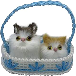 JMcall Cute Plush Cat Soft Animal Toys Doll Mini Simulation Kids Girls Xmas Gift(Color:Multicolor & Material:plush)