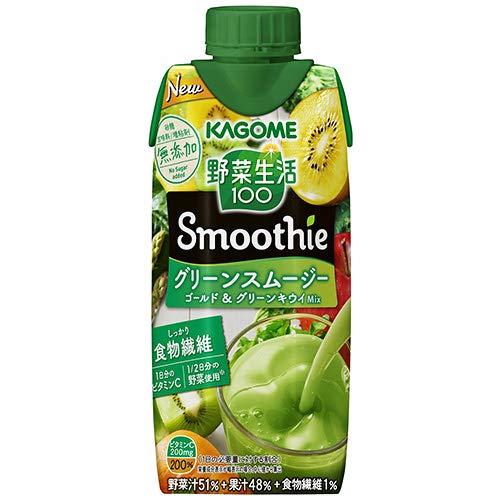 野菜生活100 Smoothie グリーンスムージーMix 330ml×24本 紙パック