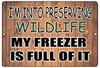 My Freezer is Full of It 金属板ブリキ看板警告サイン注意サイン表示パネル情報サイン金属安全サイン