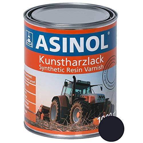 ASINOL DEUTZ SCHWARZ-BLAU 1000 ml Kunstharzlack Farbe Lack 1l Liter Dose