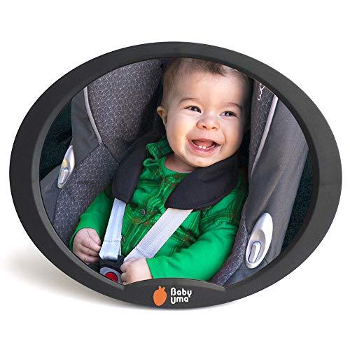 Espejo retrovisor bebé Baby Uma - Échale un ojo a tu pequeñín mientras conduces. Espejo de seguridad para niños, ajustable al asiento trasero. Fácil manejo, diseño discreto para tu coche
