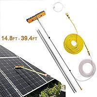 ZRABCD 屋外清掃ツール水供給伸縮式ブラシ、太陽光発電パネルツール、伸縮性のあるクリーナーの温室屋根、トラックのキャラバン窓のための洗濯,5M / 14.8フィート