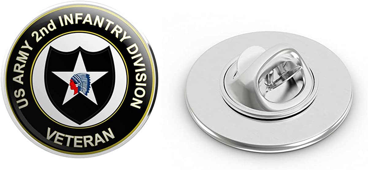 U.S. Army Veteran 2nd Infantry Division Metal 0.75