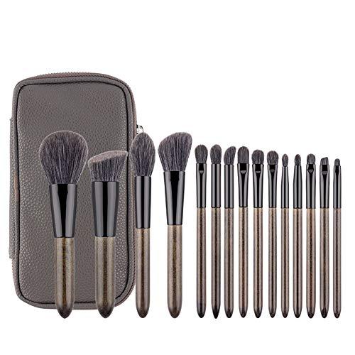 15 pièces Pinceaux de Maquillage Premium Synthetic Foundation Brush Professionnel Maquillage Cosmétique Pinceaux Kits Fondation Visage Correcteur Yeux Set