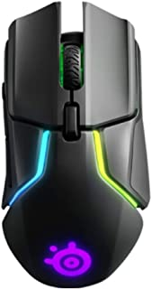 MINHUISHANGMAO Mouse, Wireless/wired Dual Mode, Professional Gaming Mouse, Office Mouse (Color : Black)