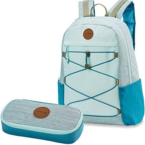Dakine 2er Set Rucksack Schulrucksack Laptop Wonder 22l + School CASE Mäppchen Bay Islands