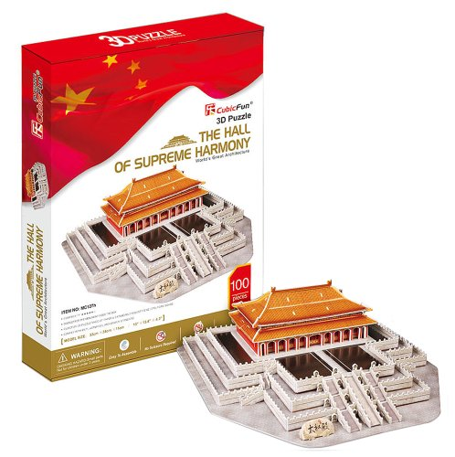 Hall of Supreme Harmony of 3D three-dimensional puzzle Forbidden City (japan import)