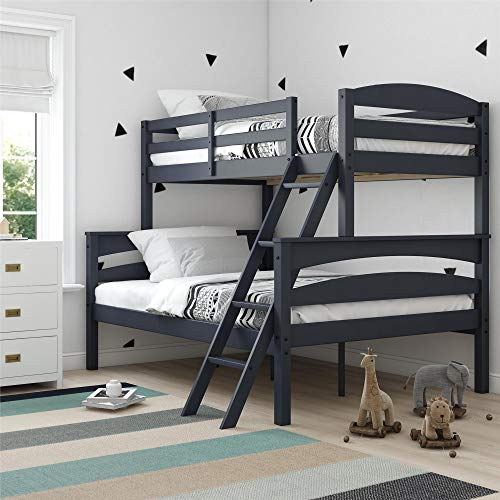 Dorel Living Brady Solid Wood Bunk Beds with Ladder and...