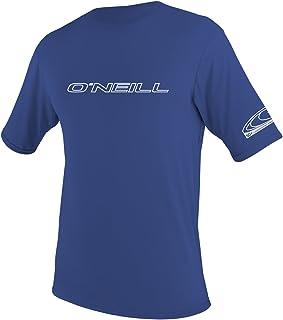 O'Neill Wetsuits Men's Basic Skins UPF 50+ Short Sleeve Sun Shirt, Pacific, Medium