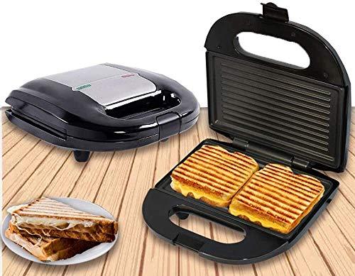 J&X Panini Press Sandwich Machine Belgian Waffle Maker Parrilla eléctrica para gofres Individuales Paninis Hosth Browns Otros en el Desayuno del Desayuno o merienda