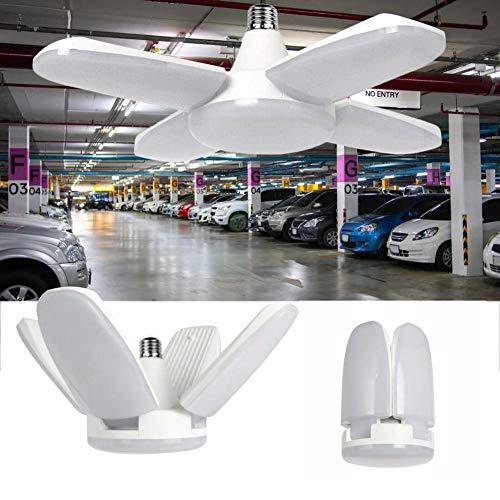 Luces de Garaje de LED, Luces de Cocina de Techo, 80 W, 8000 LM, lámpara de Techo LED deformable E27 E26 Fan Blade Shape lámpara de Trabajo para almacén o Gimnasio