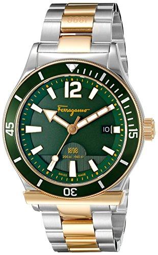 SALVATORE FERRAGAMO FF3270015 - Reloj de Pulsera Hombre, Acero Inoxidable, Color Bicolor