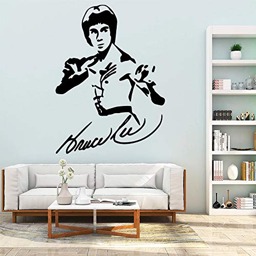 Kung Fu Bruce Lee vinilo adhesivo para pared impermeable pared