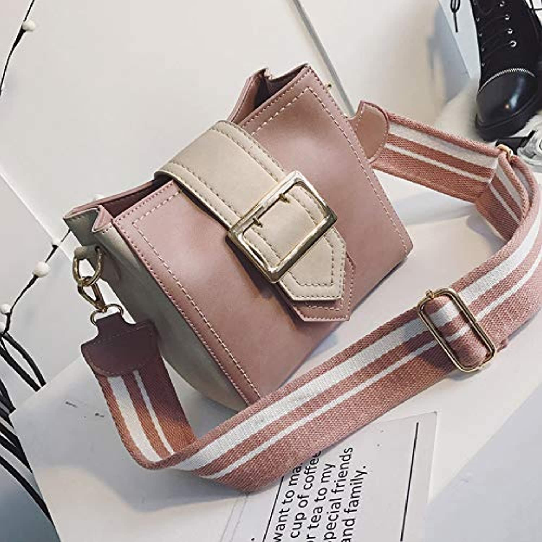 WANGZHAO Slanting Bag, Shoulder Bag, Women's Bag, of Retro Fashion, Bucket Bag Collision