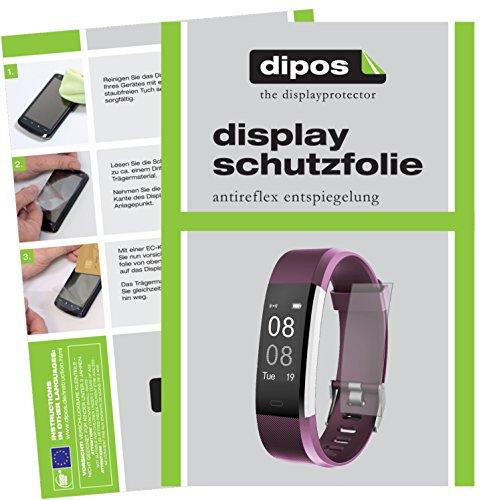 dipos I 6X Schutzfolie matt kompatibel mit Yamay Fitness Armband SW333 Folie Displayschutzfolie