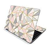 MightySkins Skin for Samsung Chromebook Plus V2 12' (2019) - Rose Gold Polygon   Protective, Durable, and Unique Vinyl Decal wrap Cover   Easy to Apply, Remove, and Change Styles   Made in The USA