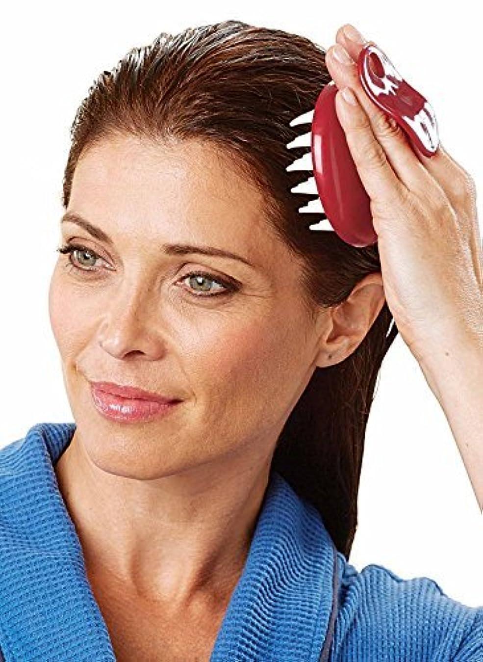 Set of 2 Shampoo and Scalp Hair Washing Comb Massager Brush [並行輸入品]