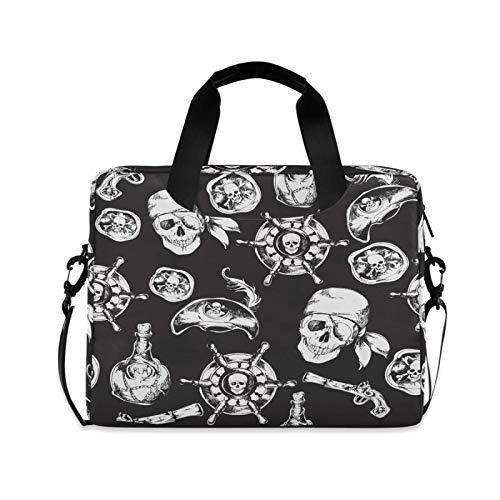 Laptop Sleeve Case,Laptop Bag,Anchor Skull Water Briefcase Messenger Notebook Computer Bag with Shoulder Strap Handle,29×40 CM/15.6 Inch