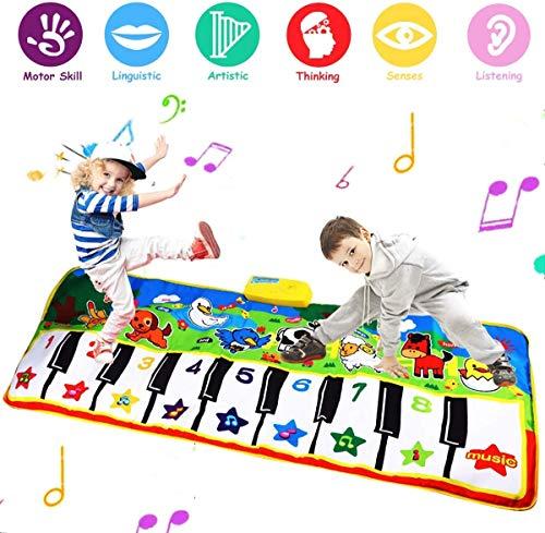 Super Piano Mat, Oversized (53 * 23 Zoll) Kinder Klavier Keyboard Musik Tanzspiel Pad Toy rutschfeste Tanzdecke, Spaß elektronische Krabbelmatte Teppich geeignet für Baby Kleinkind Jungen und Mädchen