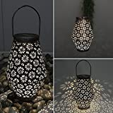 DHYED Farol solar para jardín, iluminación moderna para...