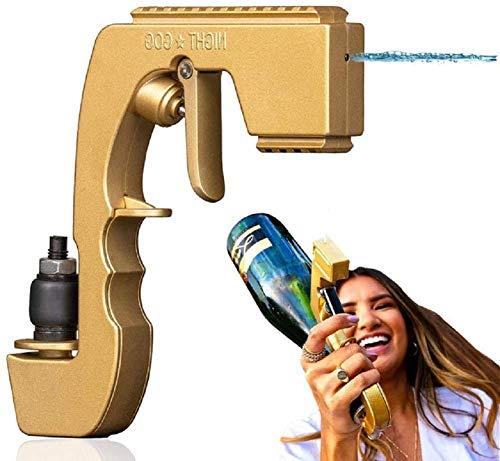 Pistola de rociador de champán, pistola de champán de burbujeantes, pistola de champán, pistola de champán burbujeante blaster blaster alcohol arma de vino stoppers de vino botellas de vino 750ml bote