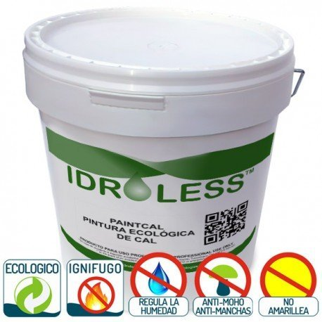 paintcal: pittura di Cal ecologico impermeabile idroless – 25 kg, interni, Vaniglia