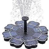 Obubble Fuente solar flotante de 2,5 W con 5 estilos de fuente para jardín, baño de pájaros, estanque, recipiente de pescado