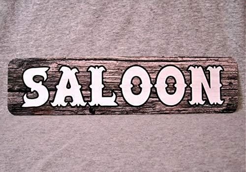 Dozili Plaque en métal Saloon Western Bar Pub Old West Wild Barman Bière Liquor Arrosoir Trou Homme Cave Garage Wall