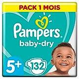 foto Pampers Baby Dry - Pañales para bebés, Talla 5+ (13-25kg), 132 unidades