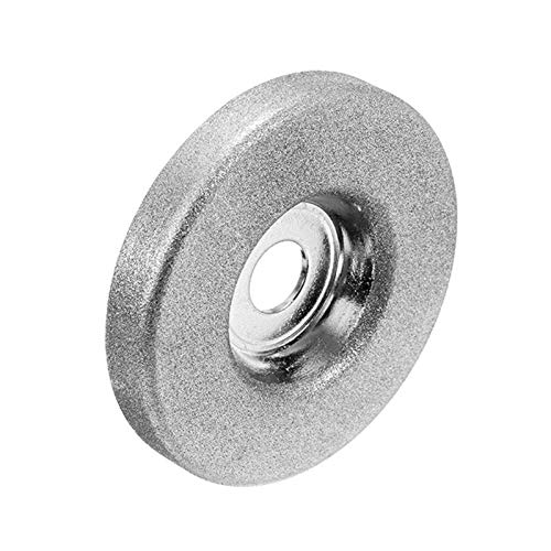 3pc 56mm 180/360 Grit Diamant-Schleifscheibe Kreis Grinder Stein Spitzer Winkel Schneidrad Drehwerkzeug Schleiftopf Schleifteller (Color : 360 Grit, Size : 3pc)