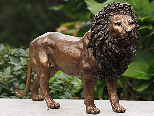 IDYL Bronze Tierfigur Löwe - Länge 42 cm Dekorationsfigur König der Tierwelt