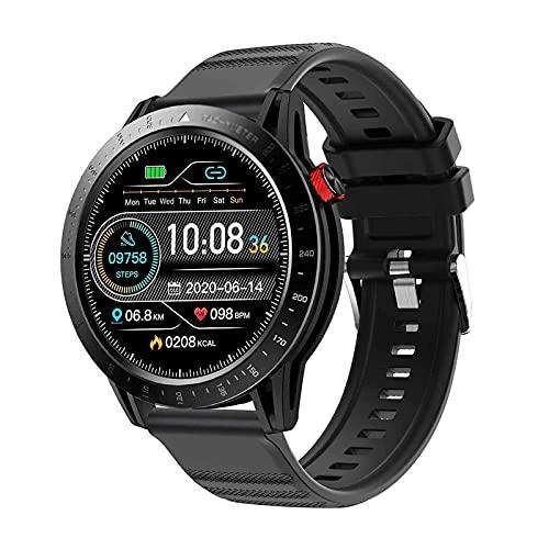 G&UWEI 1.3 '' Touch Screen Smart Watch for Men, 3ATM Impermeable, Reloj De Apacturamiento De Seguimiento De Sueño con Android iOS Calorie Step Counter Touch Pantalla Táctil,Negro