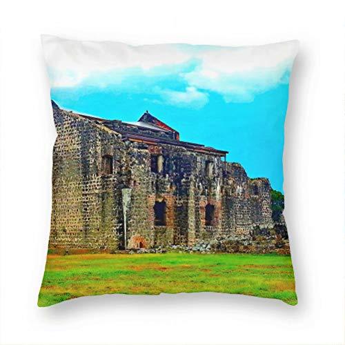 Panama Pillow Case Decorative Cushion Cover Pillowcase Sofa Chair Bed Car Living Room Bedroom Office 18'x 18' KXR-4560