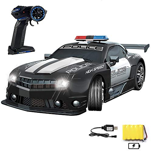 Haktoys Remote Control Police Car, Radio RC Hot Pursuit Cop Chase, Super Fast 1:12 Scale Patrol Vehicle, Parent Friendly - No Siren Sound or Flashing Lights