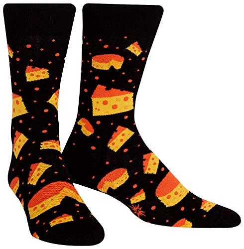 Sock it to me - Herren Socken String Cheese Theory - lustige Herren Socken stinkender Käse Käsesocken Gr.42-47 One Size, Größe:Gr. 42-47