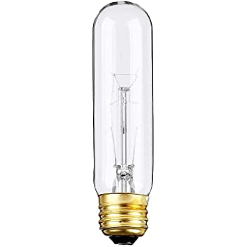 (Pack Of 6) 25-Watt T10 Tubular Clear Incandescent Medium Base (E26) 120-Volt Light Bulb