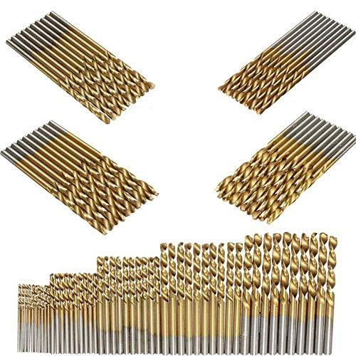 SUNSHINETEK 50 piezas Brocas HSS Micro Broca 1/1.5/2 / 2.5 /