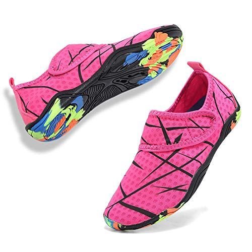CIOR Boys & Girls Water Shoes Quick Drying Sports Aqua Athletic Sneakers Lightweight Sport Shoes(Toddler/Little Kid/Big Kid) U1ELJSX003-Pink-33