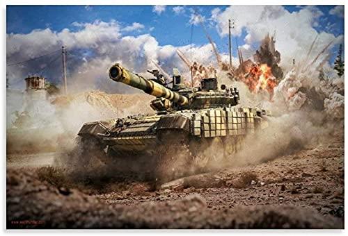 Diy 5d Kit De Pintura De Diamantes Por NúMero Videojuego War Mine Tank and Picture Modern Cuadros Con Diamantes Bordado Punto De Cruz Kits 11.8'x15.7'(30x40cm) Sin Marco