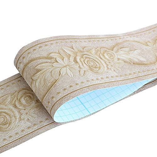 HyFanStr Bordi per Carta da Parati autoadesivi, 3D Rimovibili Bordo per Carta da Parati per Cucina Bagno, Bordo Adesivo Impermeabile 0.1x5m