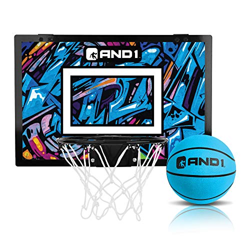 """AND1 Over The Door Mini Hoop: - 18""""x12"""" Easy to Install Portable..."""