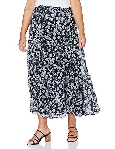 Superdry Damen Margaux Maxi Skirt Rock, Mehrfarbig (Navy Floral THV), S (Herstellergröße:10)