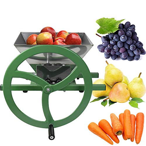 Fruit and Apple Crusher - 7L Stainless Steel Manual Juicer Grinder, Fruit Scratter Pulper for Wine and Cider Pressing
